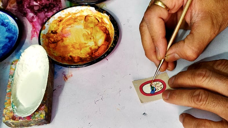 Miniature painting making. by Lai