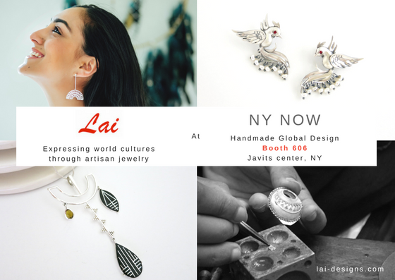 NY NOW handcrafted artisanal jewelry design Lai invite