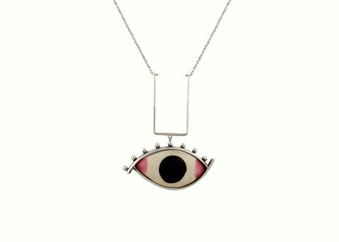 Striking ''Chakshu' (deity eye) necklace (PB-2612-N)