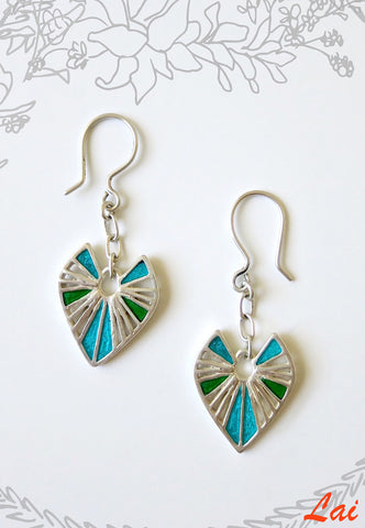 Contemporary chic two tone enamel earrings (PB-4190-ER)