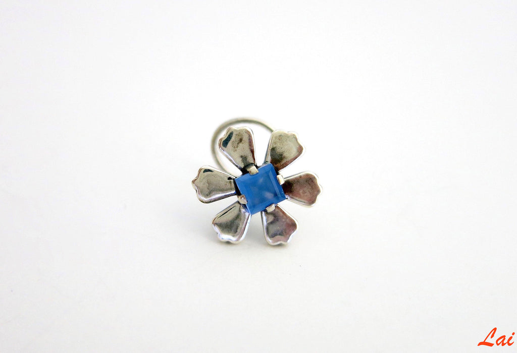 Arresting chic floral nose pin (PB-017-NP) - Lai - 1
