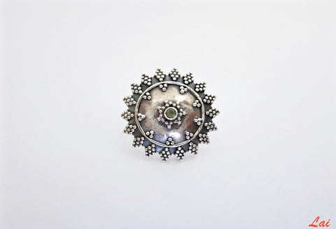 Dramatic, boho-chic, granulation work nose pin