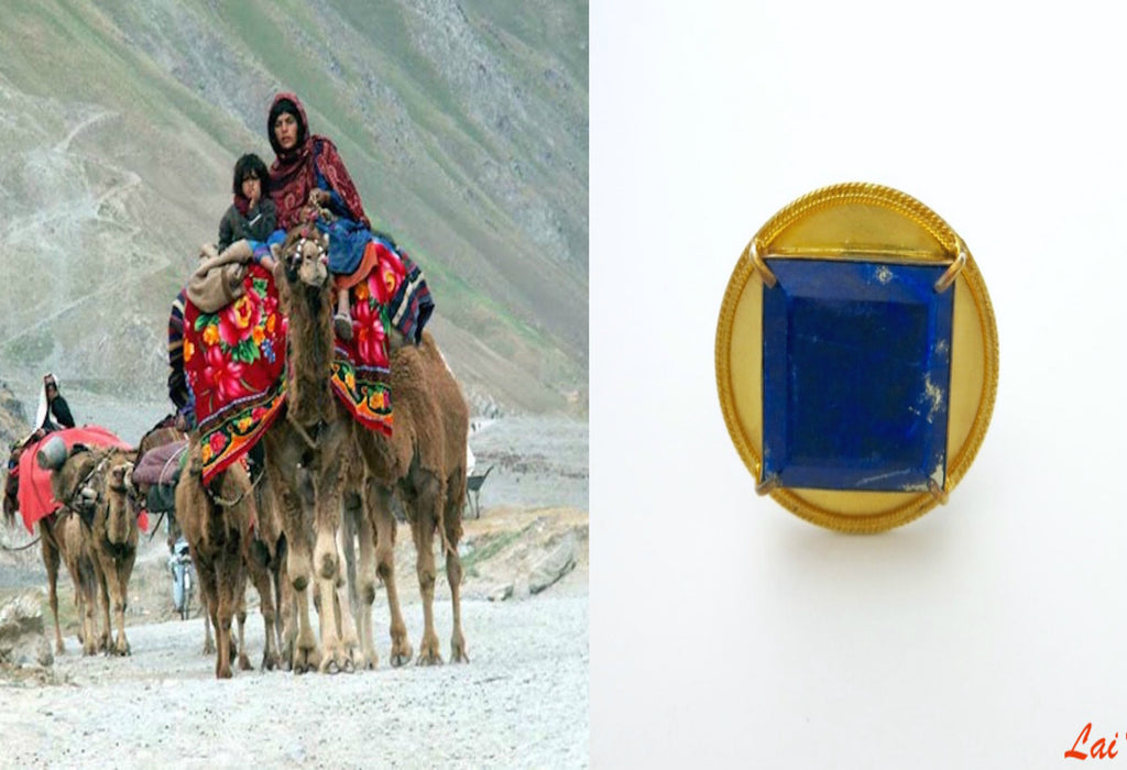 Magnificent round afghani Lapis statement ring (PB-1623-R) - Lai - 1