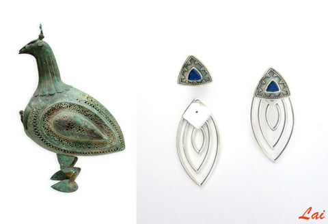 Gorgeous detachable earrings that can be worn 2 ways (PB-2911-ER)