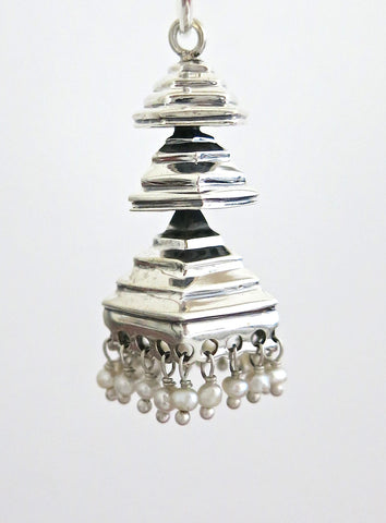 Unique 3-tiered pyramidical Jhumka bottoms (PBJ-32-B)