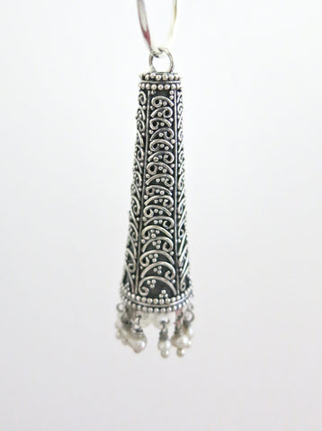 Stunning long Jhumka bottoms with wire work (PBJ-31-B)