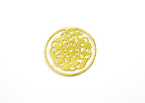 Big, round, floral pattern cutwork Bookmark  Bookmarks Sterling silver handcrafted jewellery. 925 pure silver jewellery. Earrings, nose pins, rings, necklaces, cufflinks, pendants, jhumkas, gold plated, bidri, gemstone jewellery. Handmade in India, fair trade, artisan jewellery.