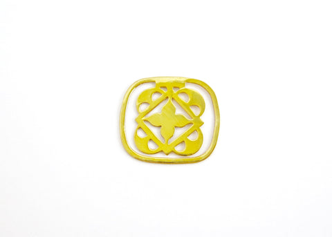 Small rounded square cutwork Bookmark (PBR-007)