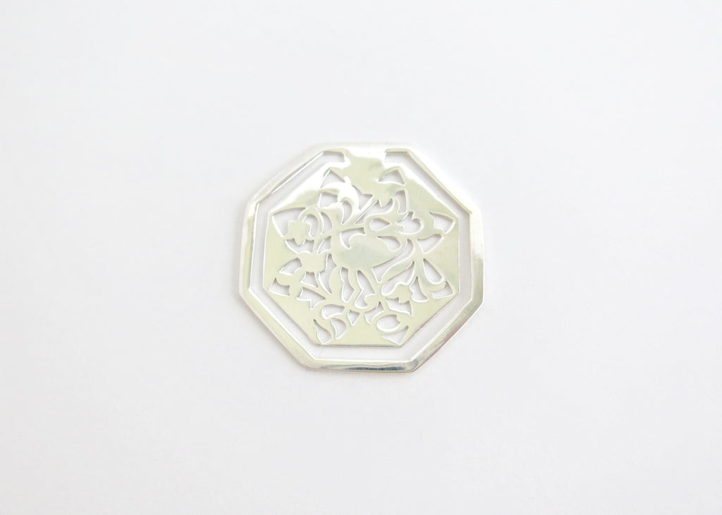 Octagonal crane design cutwork Bookmark (PBR-003)