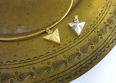 NEW! Chic and dainty triangular locket pendant (PBR-010)