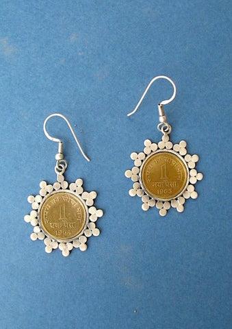 Dainty vintage coin earrings (PB-1512-ER)