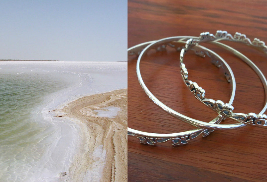Elegant, Kutch-inspired, three bangle stack  Bangles Sterling silver handcrafted jewellery. 925 pure silver jewellery. Earrings, nose pins, rings, necklaces, cufflinks, pendants, jhumkas, gold plated, bidri, gemstone jewellery. Handmade in India, fair trade, artisan jewellery.