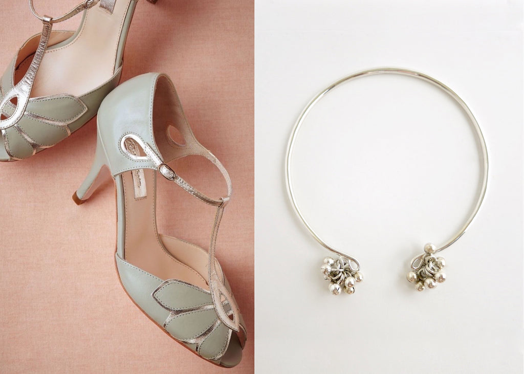 Artistic, chic, bangle anklet with silver ball cluster- can be worn as an arm band too (PB-1060-AN)  Anklets Lai designer sterling silver 925 jewelry that is global culture inspired artisanal handcrafted handmade contemporary sustainable conscious fair trade online brand shop