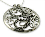 Dramatic big round entwined paisley statement pendant (PB-1429)  Necklace, Pendant Lai designer sterling silver 925 jewelry that is global culture inspired artisanal handcrafted handmade contemporary sustainable conscious fair trade online brand shop