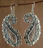 Exquisite stylized paisley long earrings (PB-1442-ER) - Lai - 3