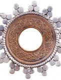 Exquisite coin earrings with delicate silver work (PB-1500-ER) -  - 3
