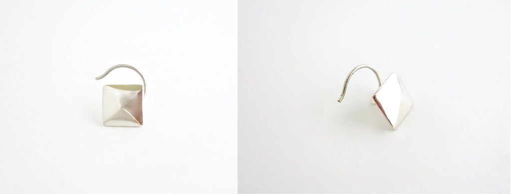 NEW! Minimalist facetted square nose pin (PB-037-NP)