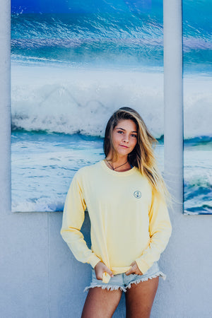 Long-Sleeve Yellow anchor classic