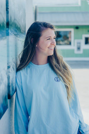 Blue Long-Sleeve Anchor Classic