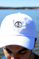white color baseball hat anchor hat