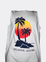 Palm Tree Design Sunset Design Chalky Mint color Tank top
