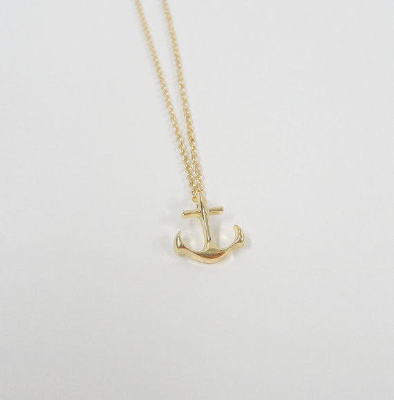 Anchor Necklace Gold Plated