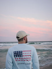 Pocketed USA Flag Long-Sleeve