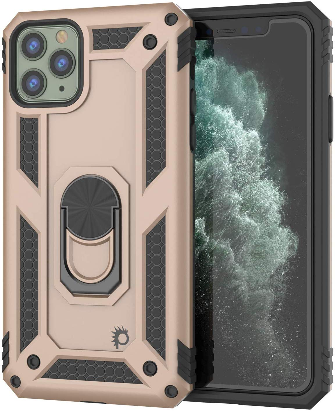 Apple iPhone 11 Pro Max Punkcase Armor Military Case Gold