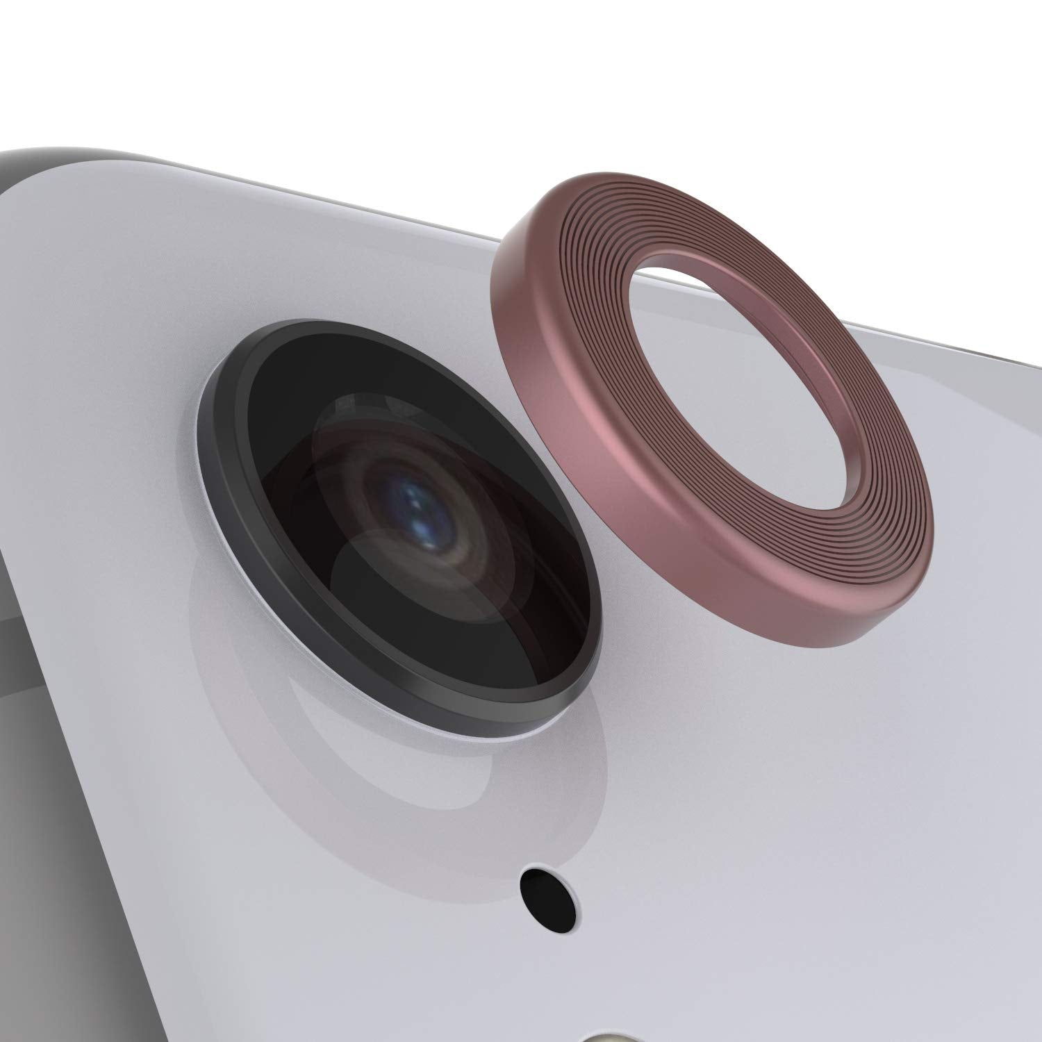 Punkcase iPhone XR Camera Protector Ring [Rose-Gold]
