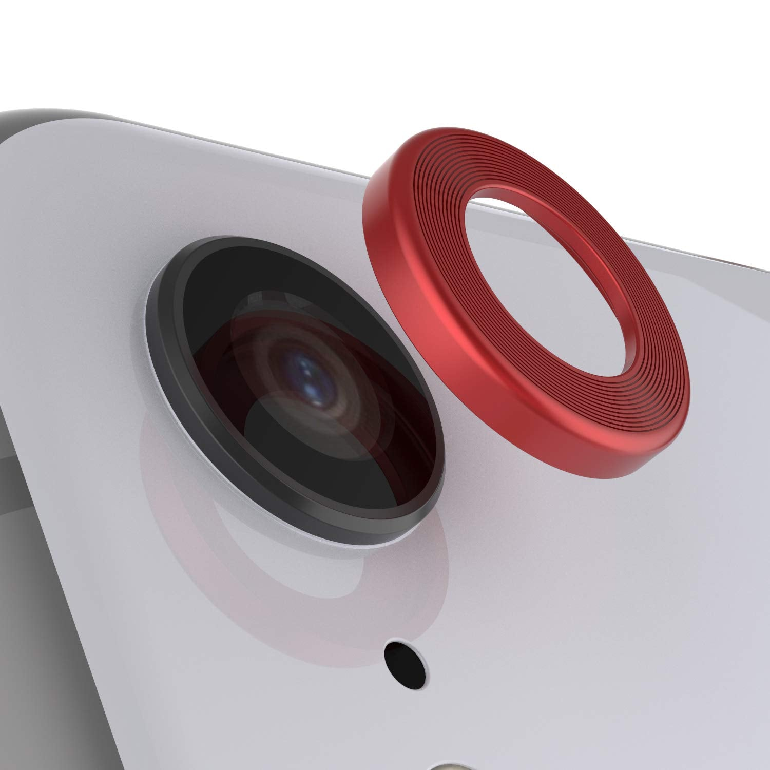 Punkcase iPhone XR Camera Protector Ring [Red]