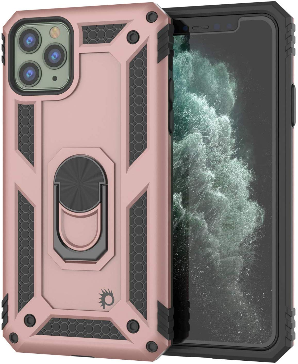 Apple iPhone 11 Pro Max Punkcase Armor Military Case Rose-Gold