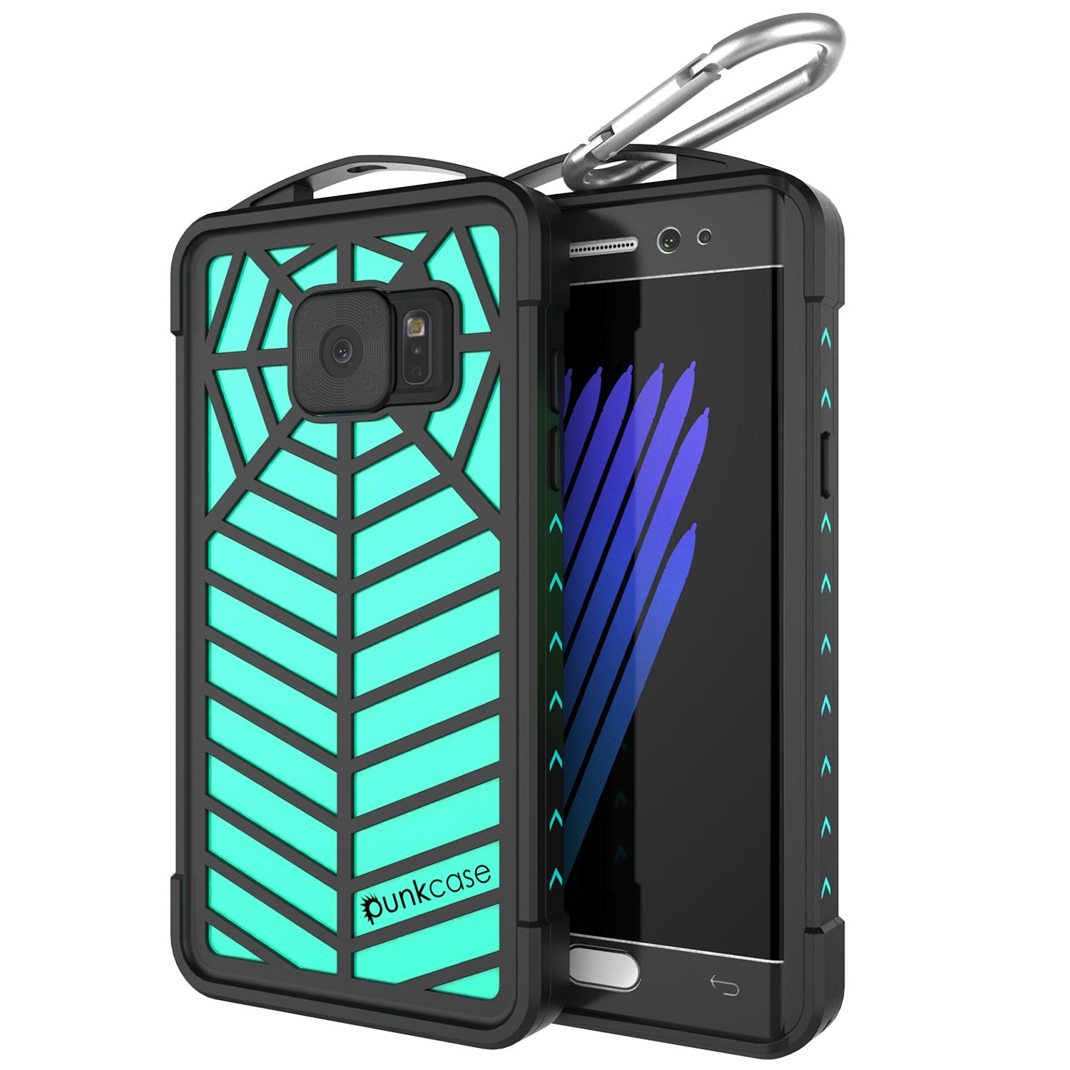 Galaxy Note FE Waterproof Case, Punkcase WEBSTER Series, Teal | Heavy Duty Armor Cover