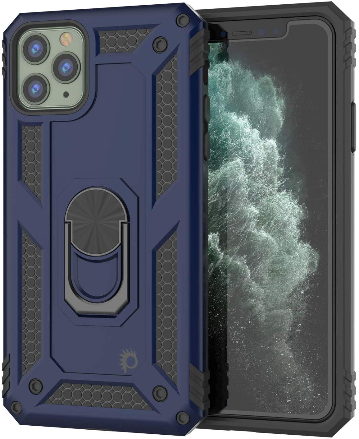Apple iPhone 11 Pro  Punkcase ArmorShield Military Style Case Navy-Blue