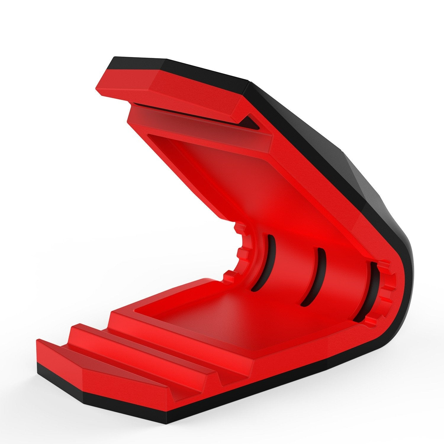 PUNKCASE Viper Car Phone Holder Red, Universal Dashboard Mount for all Smartphones, Low Profile & Sleek Design, One Hand Operation, Secure Hold even in Hot Temperatures
