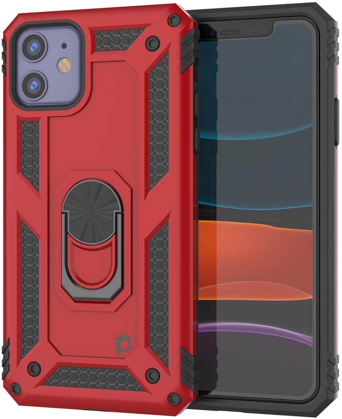 Apple iPhone 11  Punkcase Armor Military Case Red