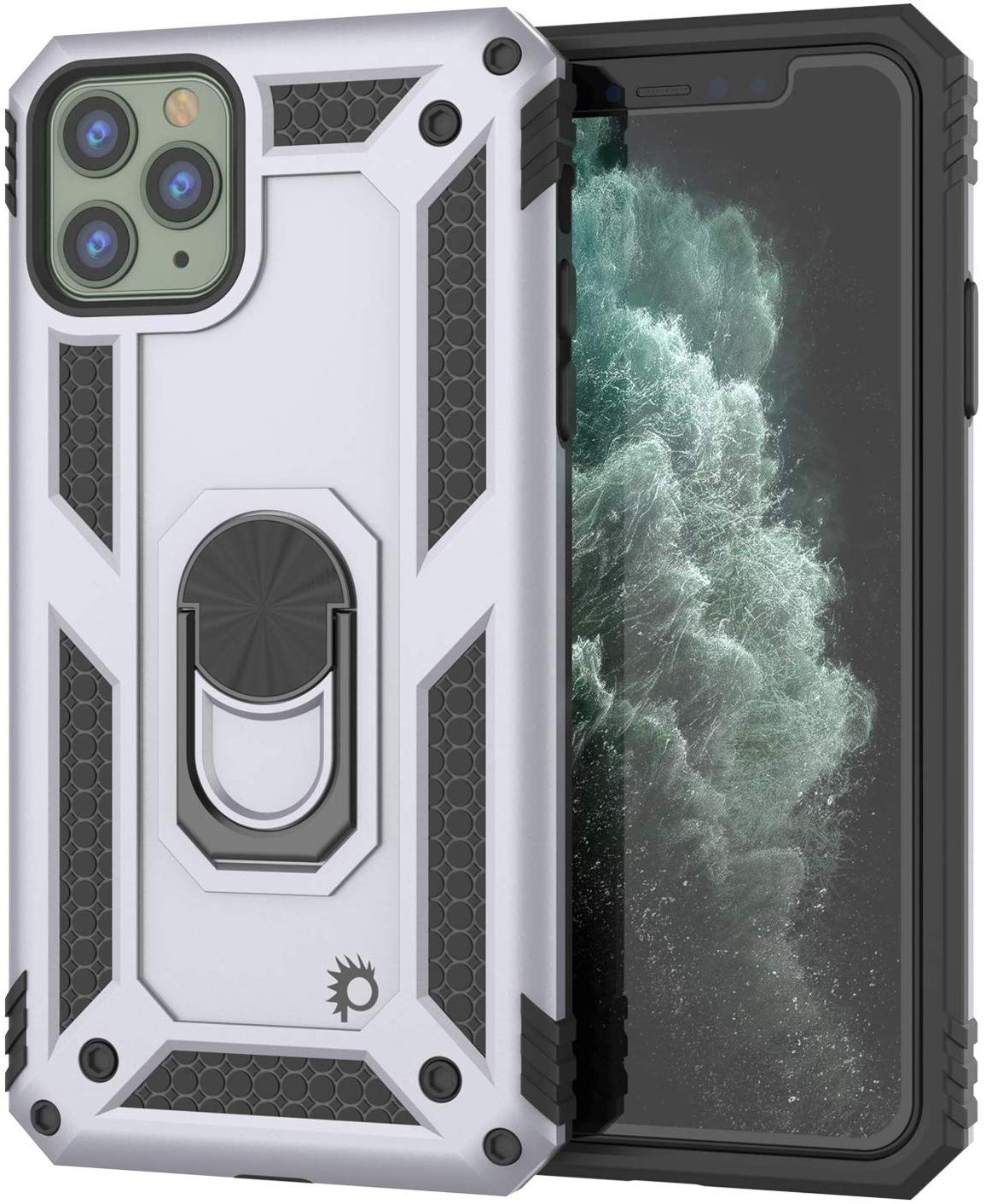 Apple iPhone 11 Pro  Punkcase Armor Military Case Silver