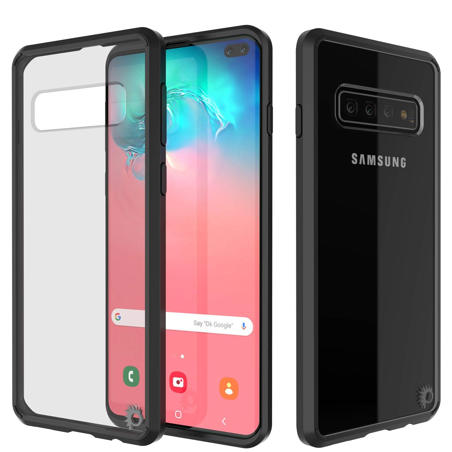 S10+ Plus Case Punkcase® LUCID 2.0 Black Series w/ PUNK SHIELD Screen Protector | Ultra Fit