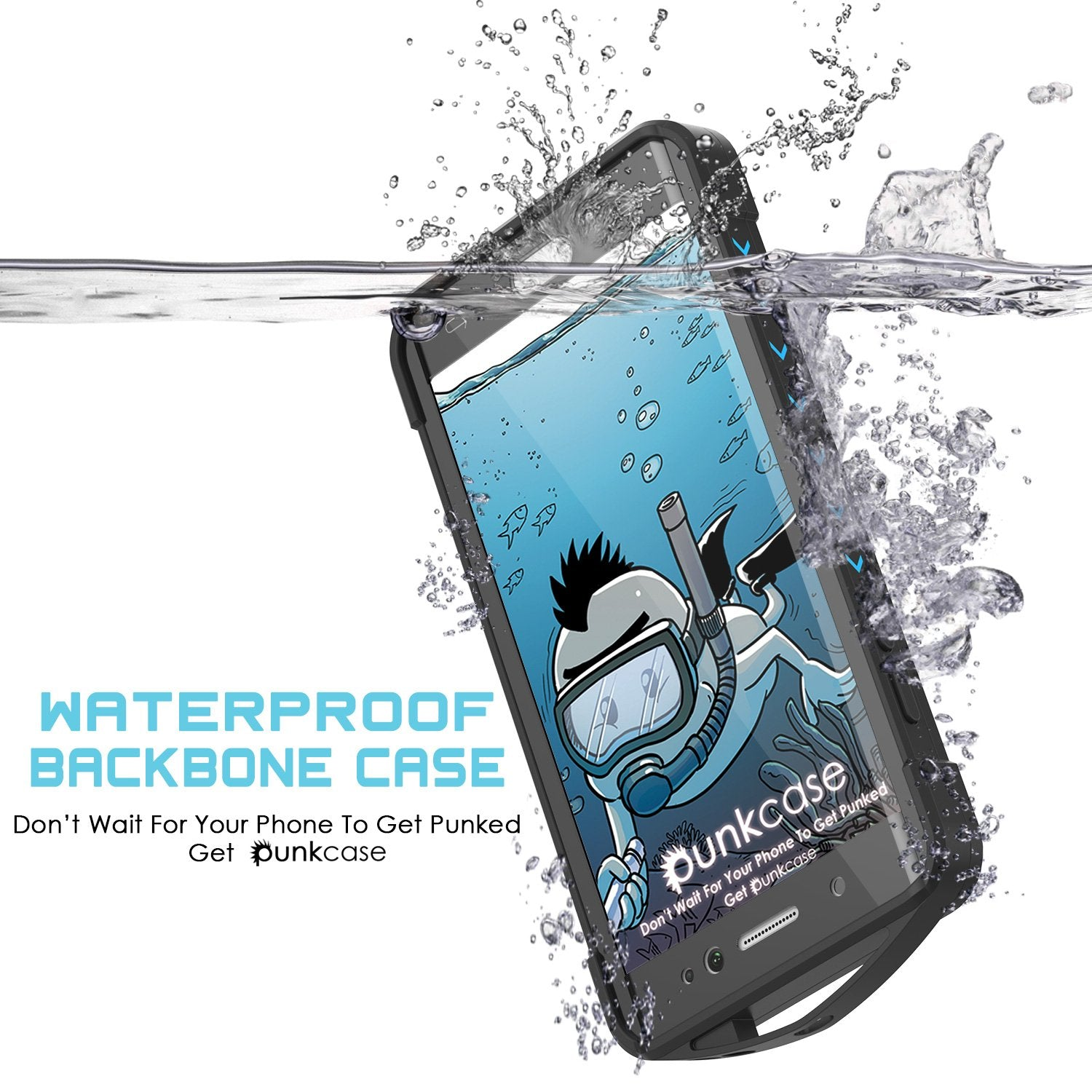 Galaxy Note FE Waterproof Case, Punkcase WEBSTER Series, Light Blue | Heavy Duty Armor Cover