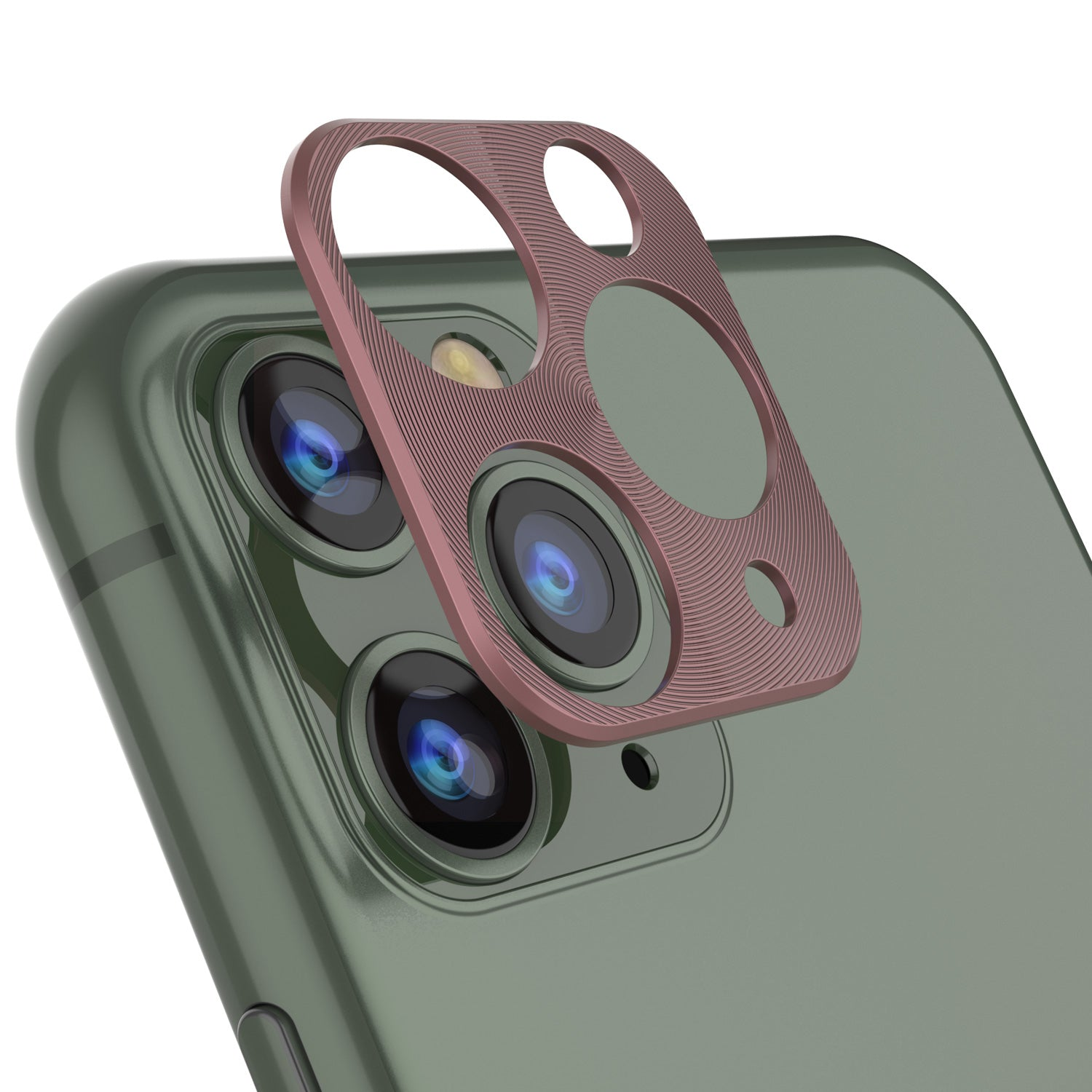 Punkcase iPhone 11 Pro Camera Protector Ring [Rose-Gold]