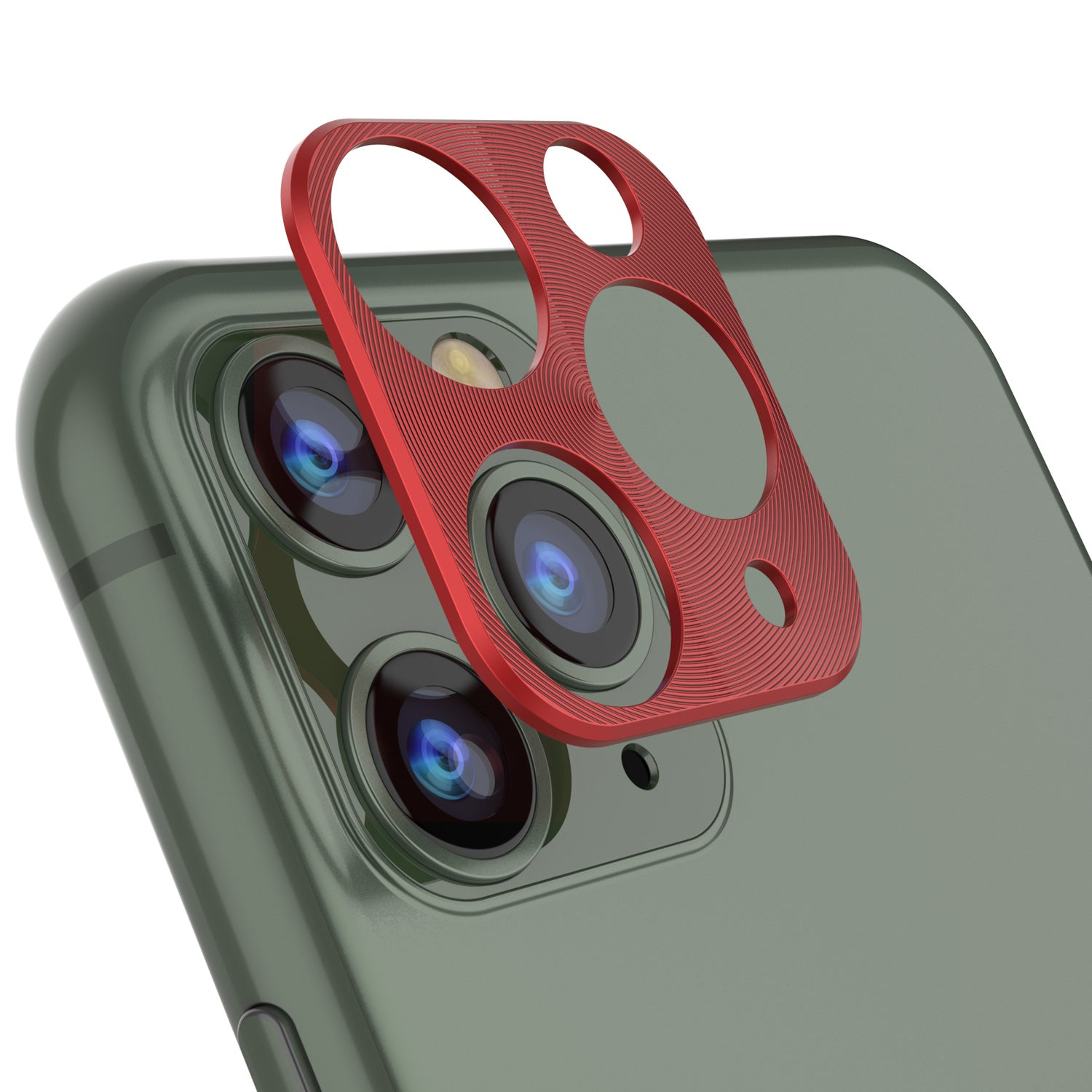 Punkcase iPhone 11 Pro Max Camera Protector Ring [Red]