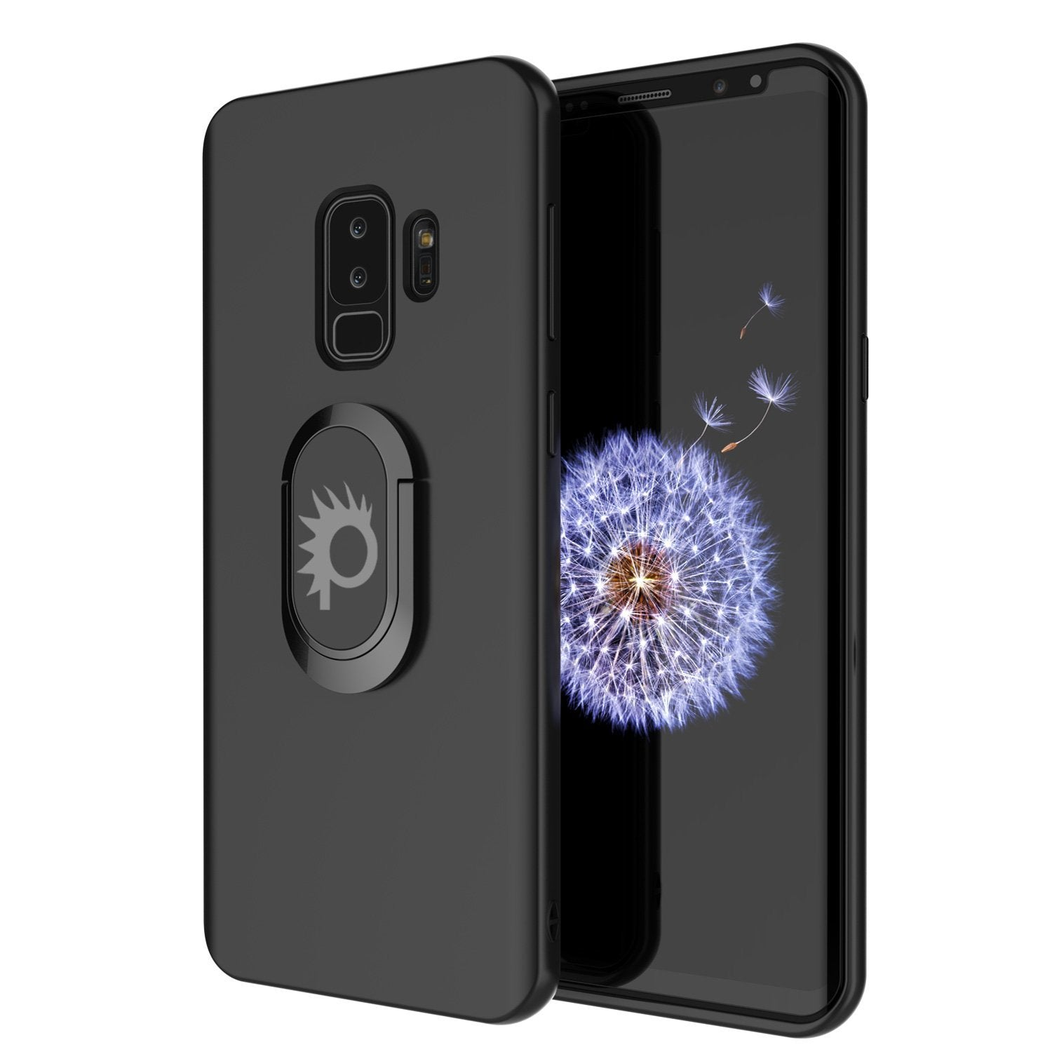 Galaxy S9 Plus, Punkcase Magnetix Protective TPU Cover W/ Kickstand, Sceen Protector[Black]