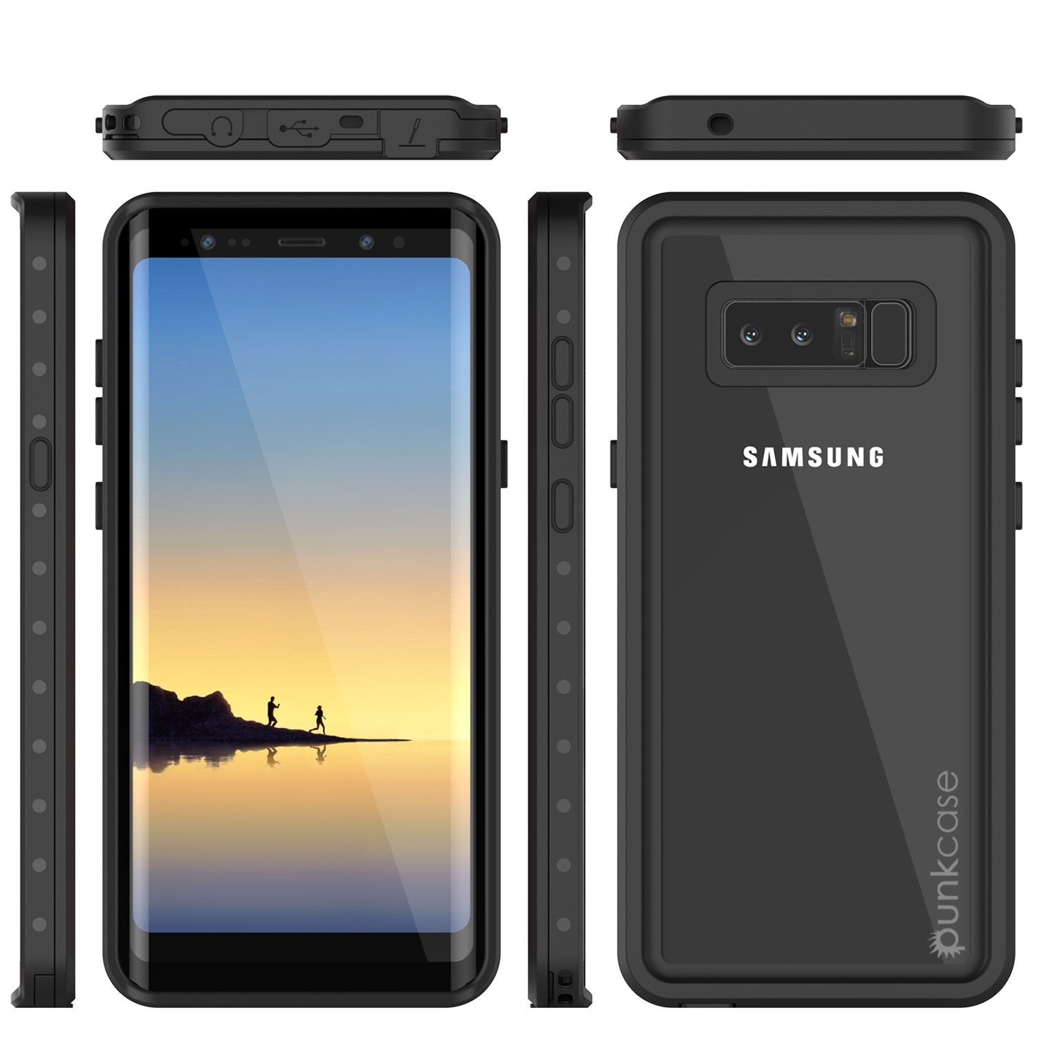 Galaxy Note 8 Waterproof Case Punkсase StudStar Clear Thin 6.6ft Underwater IP68 Shock/Snow Proof