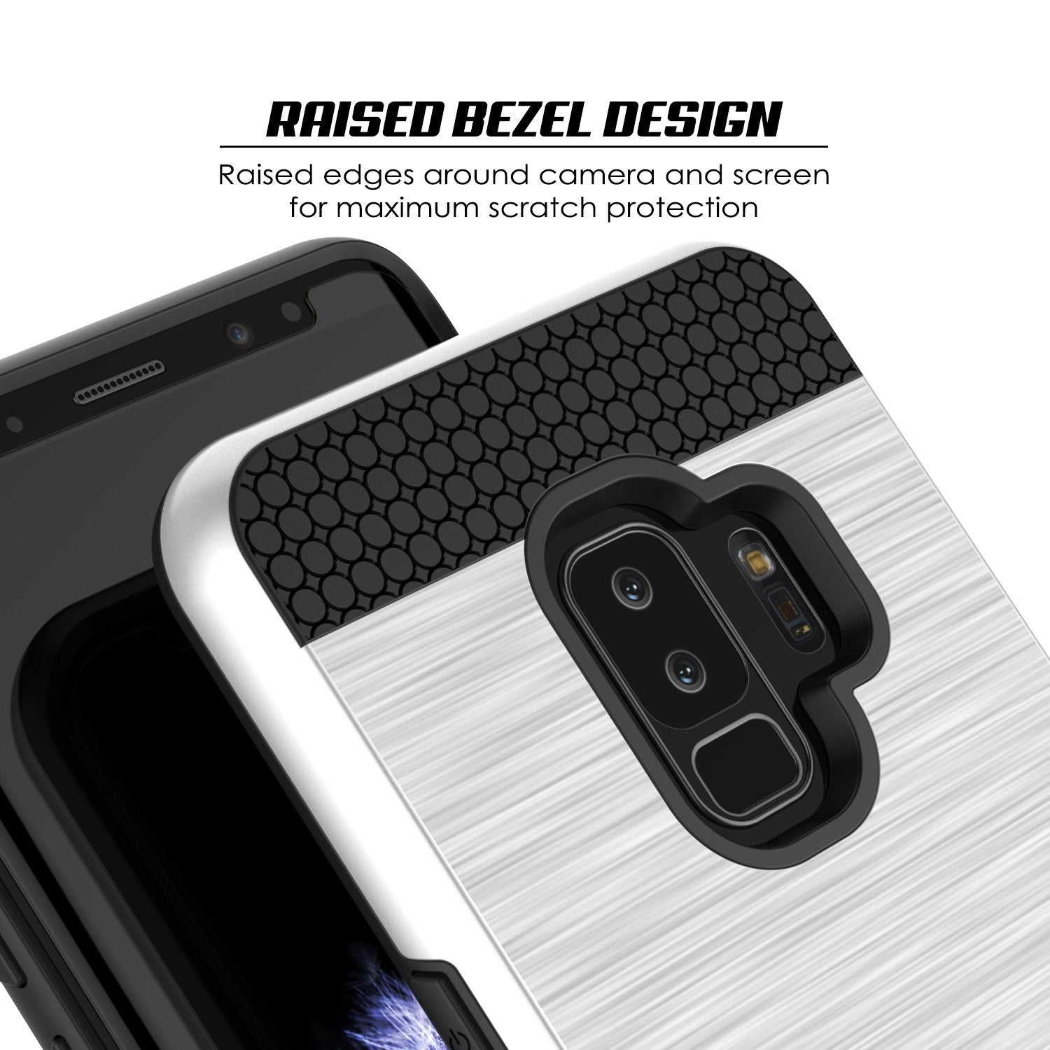 Galaxy S9 Plus Case, PUNKcase [SLOT Series] [Slim Fit] Dual-Layer Armor Cover