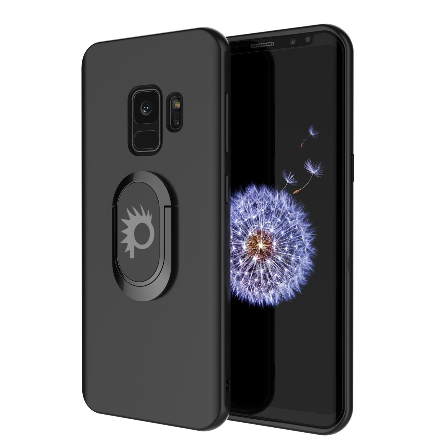 Galaxy S9 Case, Punkcase Magnetix Protective TPU Cover W/ Kickstand, Sceen Protector[Black]