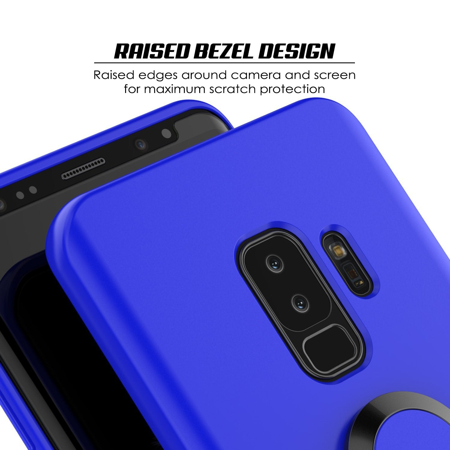 Galaxy S9 Plus, Punkcase Magnetix Protective TPU Cover W/ Kickstand, Sceen Protector[Blue]