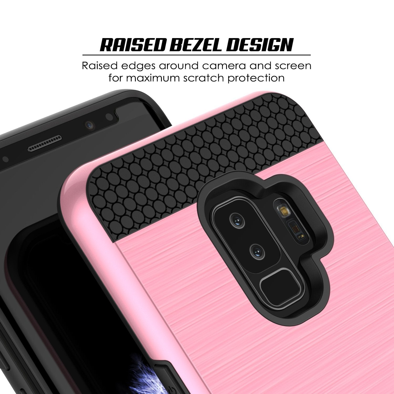 Galaxy S9 Plus Case, PUNKcase [SLOT Series] [Slim Fit] Dual-Layer Armor Pink Cover