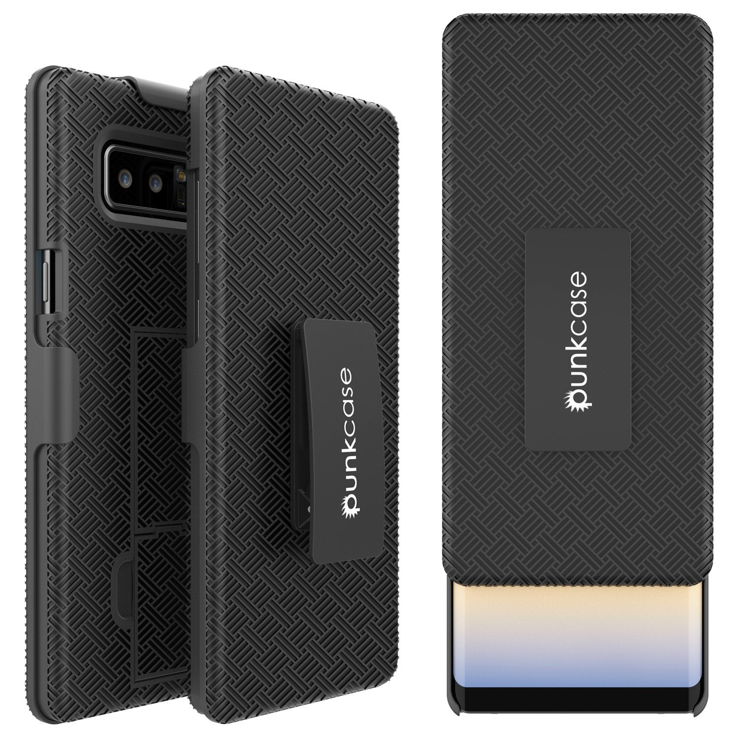 Galaxy Note 8 Holster Belt Clip W/ Ultra Screen Protector Case [Black]