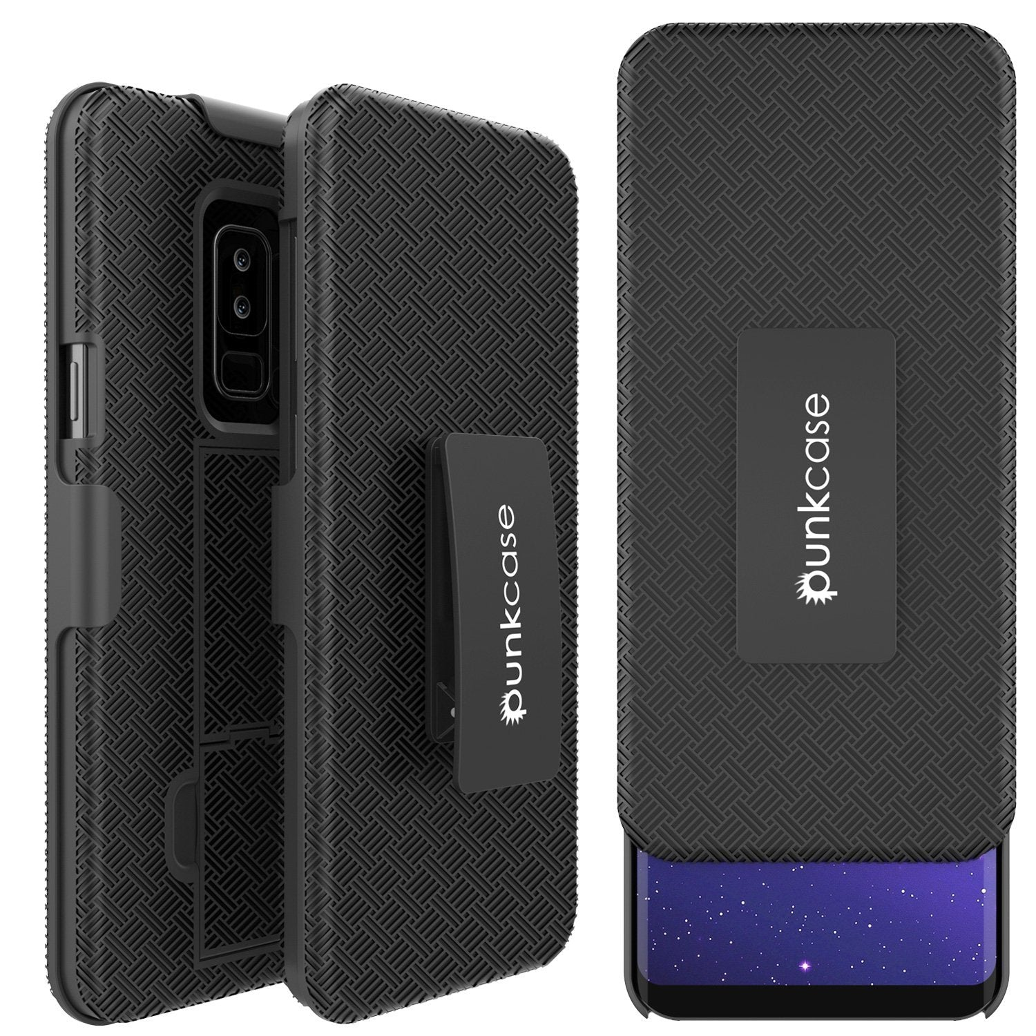 best sneakers 49e46 cb106 Punkcase Galaxy S9 PLUS Case With Screen Protector, Holster Belt Clip  [Black]