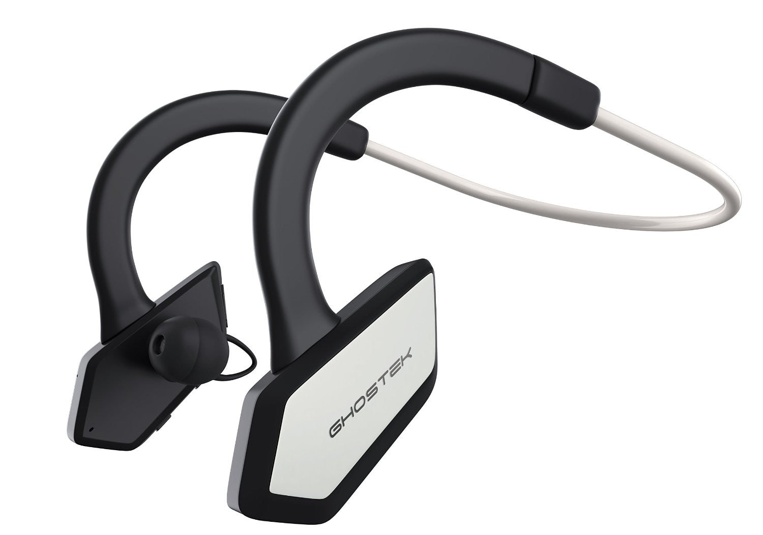 Headphones Bluetooth Ghostek Earblades White/Black Sweatproof Bluetooth4.1 Headphones WaterResistant