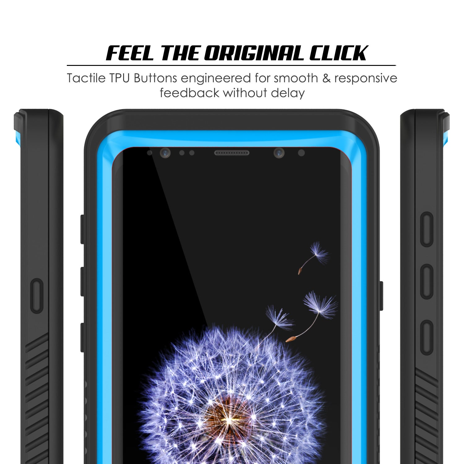 Galaxy S9 Waterproof Case, Punkcase [Extreme Series] [Slim Fit] Armor Cover [Light Blue]